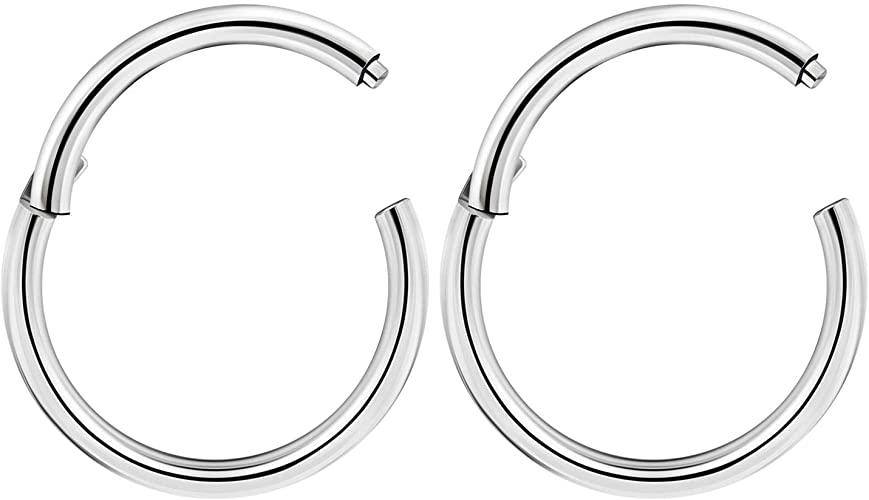 Rose Gold Plated over 316L Surgical Steel Simple Nose Hoop Ring available in 2 Sizes