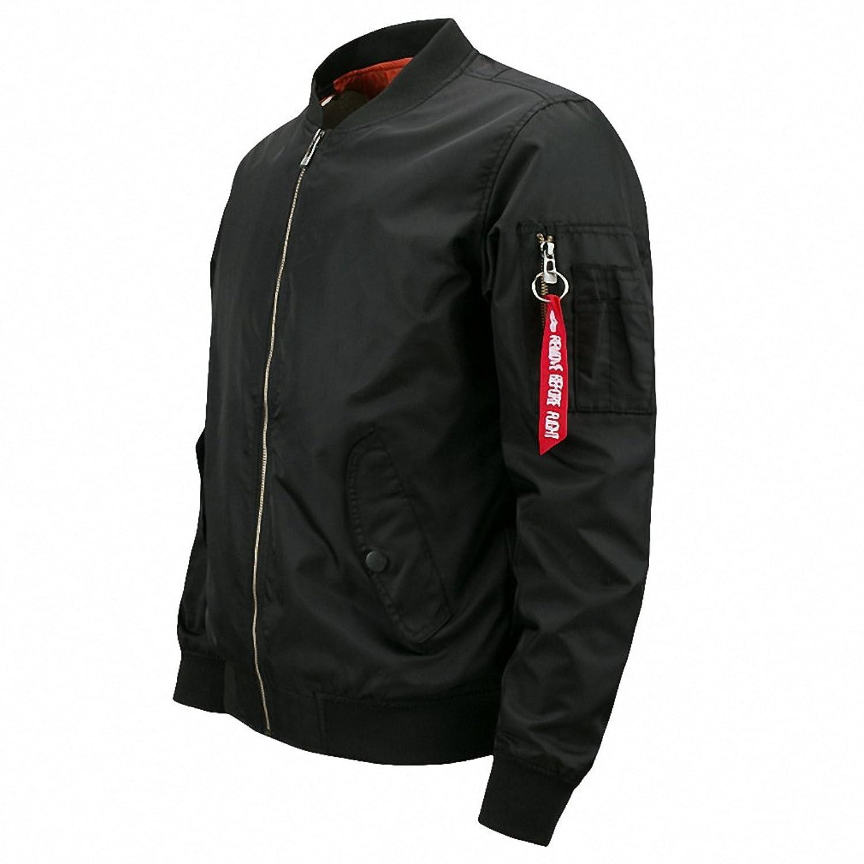 Bomber Jacket Men Plus Size Jacket For Men Military Jacket Men Mens SpringJackets And Coats Male NEW Customize Your Logo.DA27 at Amazon Mens Clothing store ...