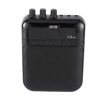 Aroma AG-03M 5W Guitarra Eléctrica Portátil Amplificador Amplificador Multifunción Grabador USB Recargable Altavoz Accesorios