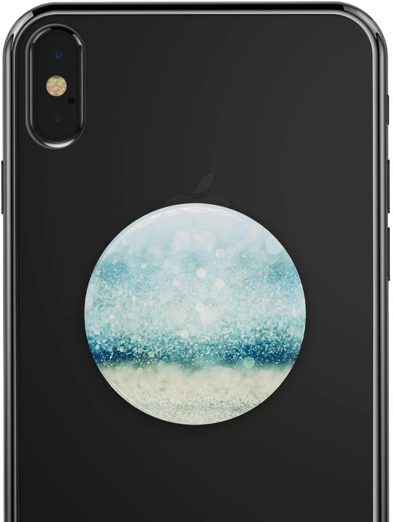 Teal and Aqua Unfocused Sparkling Orbs DesignSkinz Premium Decal Sticker Skin-Kit for PopSockets Smartphone Extendable Grip /& Stand
