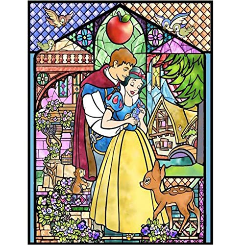 DIY 5D Diamond Painting Paint by Numbers Kits for Adult,Full Drill Diamond Embroidery Dotz Kit Crystal Rhinestone Embroidery Cross Stitch Arts Craft Supply Canvas Wall Decor(Snow White ()
