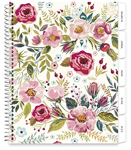 Planner 2018-2019 Calendar - 8.5 x 11 Softcover - 12 Months Dated March 2018 to February 2019 - Daily Weekly Monthly Yearly Goals (Spiral Bound with Tabs) - by Tools4Wisdom (Softcover Daily Planner)