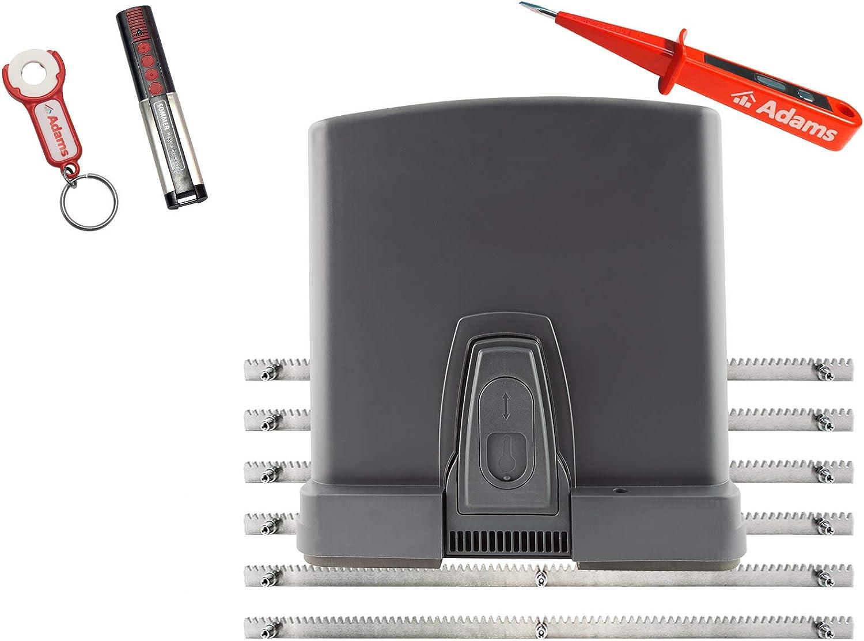 Sommer RUNner 4020 - Motor de puerta corredera (600 kg, con barra de acero dentado, emisor manual 4020 con remolque ADAMS 3 en 1 CS, comprobador de corriente ADAMS): Amazon.es: Bricolaje y herramientas
