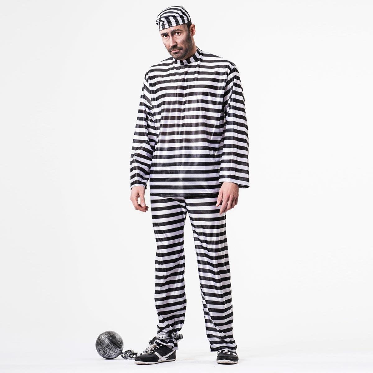 Disfraz preso adulto. Talla 50/52.: Amazon.es: Juguetes y juegos