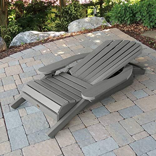 Folding and reclining Adirondack chair