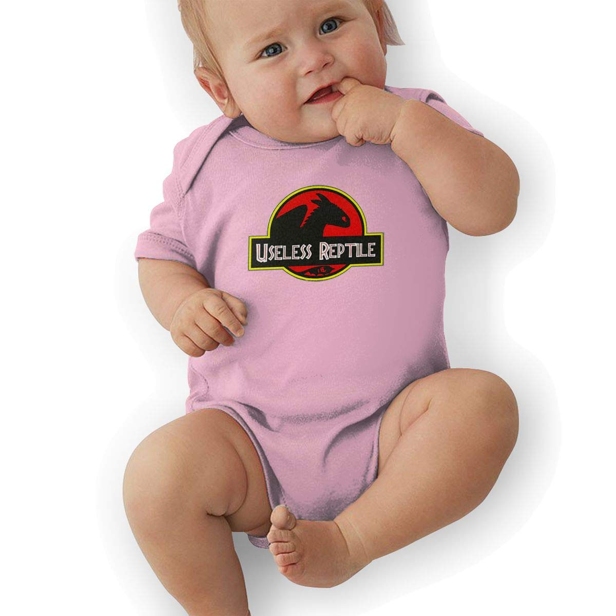 LucyEve Baby Boys Girls O-Neck Short-Sleeve Jersey Bodysuit How to Train Your Dragon Funny Crawling Clothes Black