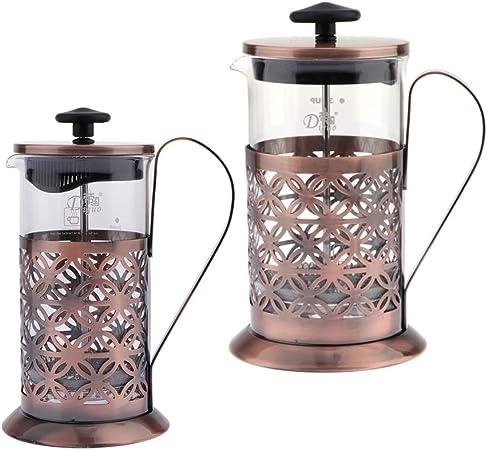 F Fityle Cafeti/ère Italienne /à Piston French Press Th/éi/ère pour Faire du Caf/é Th/é Espresso Classique 350 ML