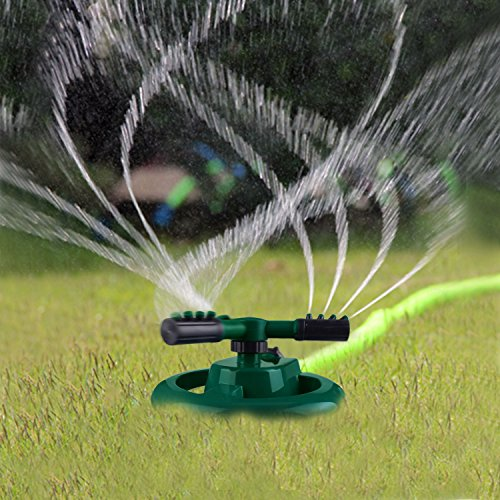 Micnaron 2018 NEW Lawn Sprinkler, Garden Sprinkler, Water Sprinkler, Premium Quality, ABS Base, Durable Rotary Three Arm Water Sprinkler