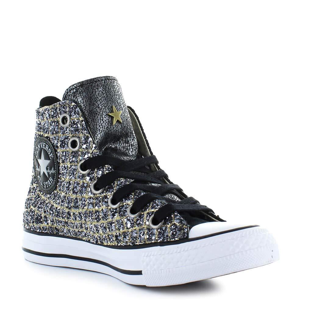71cc550ae Zapatos de Mujer Zapatilla Converse All Star Croco Oro Plata Otoño Invierno  2019  Amazon.es  Zapatos y complementos