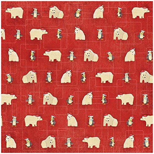 Karen Foster Design Scrapbooking Paper, 25 Sheets, Christmas Critters, 12 x 12