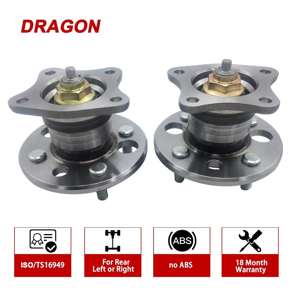 DRAGON 512018 x 2 Wheel Bearing HUB Assembly Wheel Hub Bearing Rear Fit CHEVROLET Prizm 1998-2002 TOYOTA Corolla 1993-2002 W//O ABS