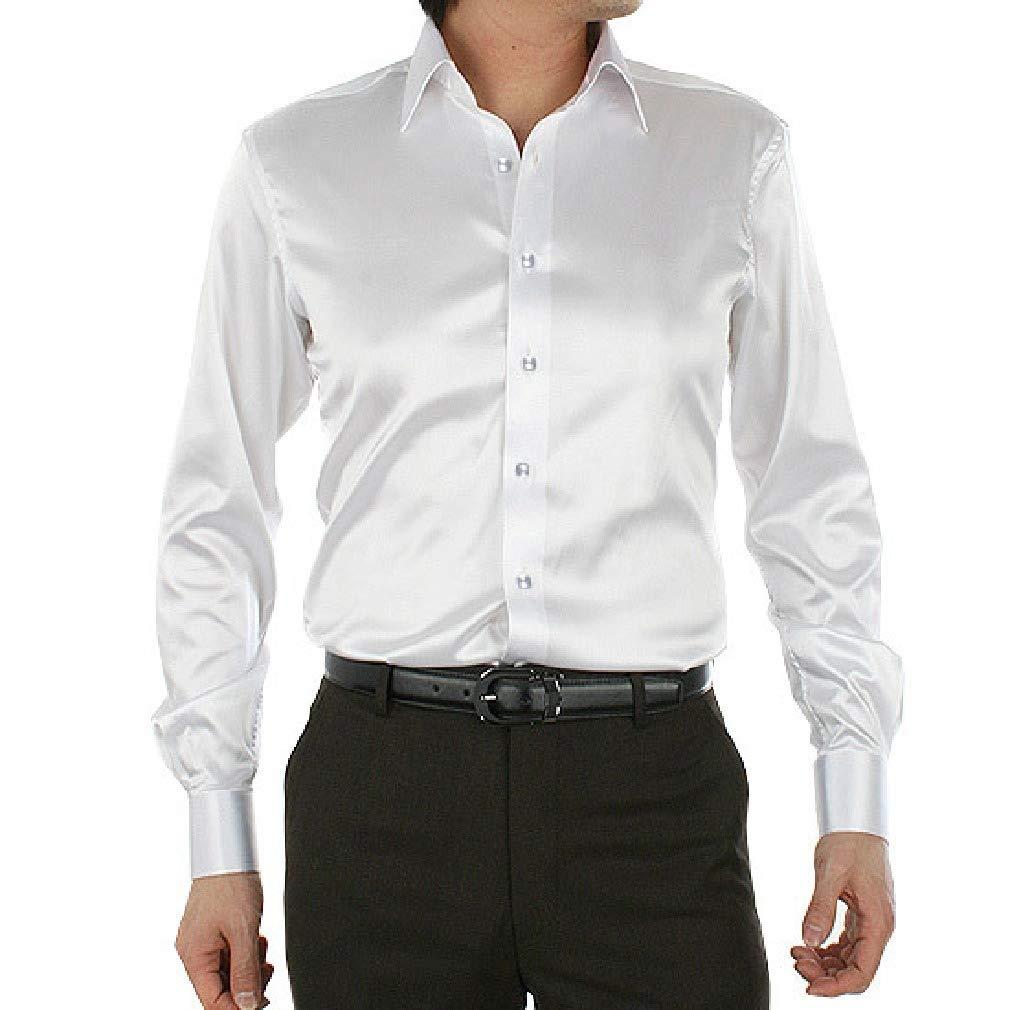 AngelSpace Mens Long-Sleeve Tailored Fit Premium Big /& Tall Satin Longshirt