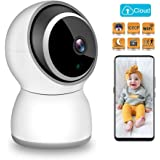 TESCAT Baby Monitor 1080P FHD Home 2.4G WiFi Security Camera Motion Detection with Night Vision 2-Way Audio Cloud Service - Baby/Elder/Pet Monitor Compatible with iOS/Android