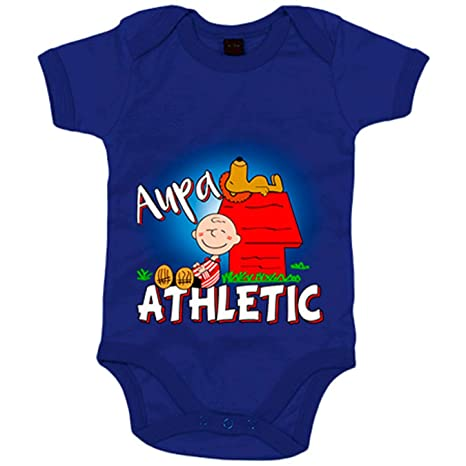 Body bebé Aupa Athletic de Bilbao Snoopy - Azul Royal, 6-12 meses