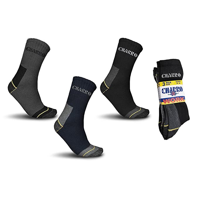 Juego 6 pares calcetines trabajo Work El Charro corto y largo assortito: Amazon.es: Ropa y accesorios