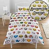Emoji Single Duvet Cover Emoji Multi Single/US Twin Duvet Cover and Pillowcase Set