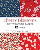 Cherry Blossoms Gift Wrapping Papers: 12 Sheets