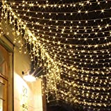 BlueSpace Light Outdoor LED String Lights Waterproof Indoor Fairy Light 33ft for Xmas Wall Garden Home Decor Patio Lawn Wedding Halloween Party (Warm White)