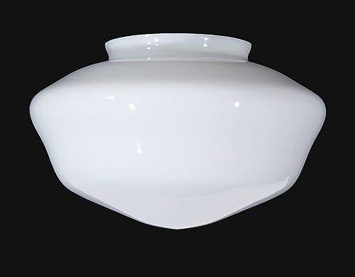 B P Lamp 6 Fitter, Opal Schoolhouse Shade, 12 Dia.