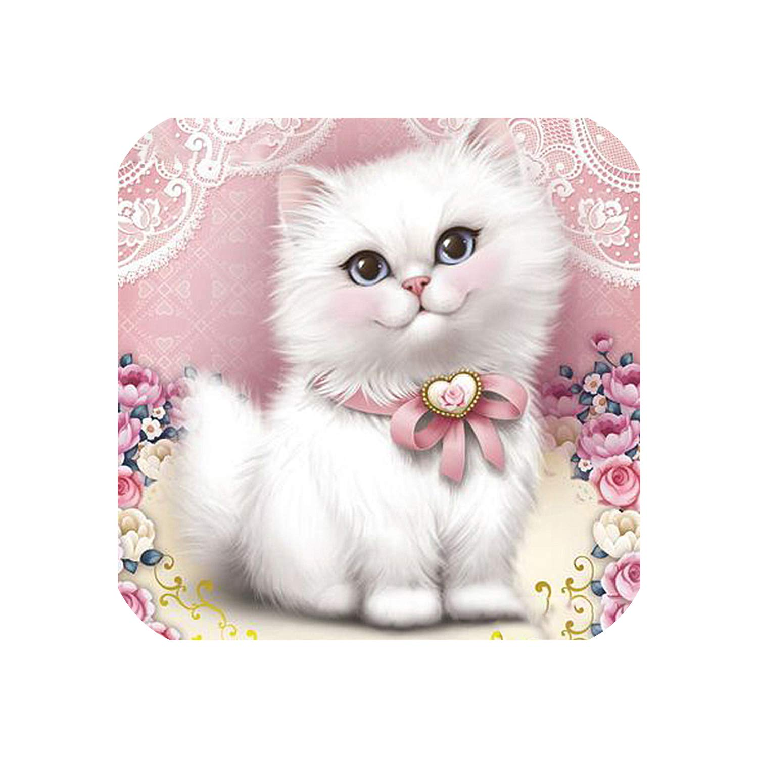 Wild-lOVE Full dispaint/Square/Round Drill 5D DIY Diamond Painting Animal cat Embroidery Cross Stitch 3D Home Decoration a12848,Square Drill 120x120