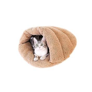 GAODUZI Saco De Dormir Con Arena Para Gatos Cerrar Caliente Mascota Casa De Gato Perrito De Invierno Perrera Gato Suministros (Color : B , Tamaño ...