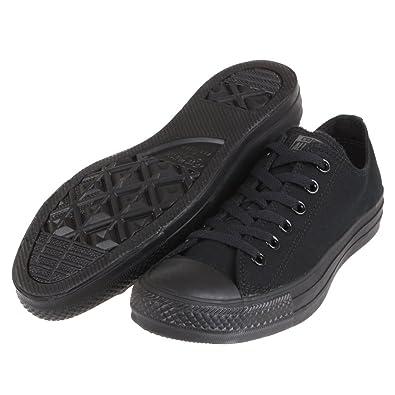 9cd8a1eeec5 Converse Unisex Chuck Taylor All Star Low Top Black Monochrome Sneakers - 5  Men   7