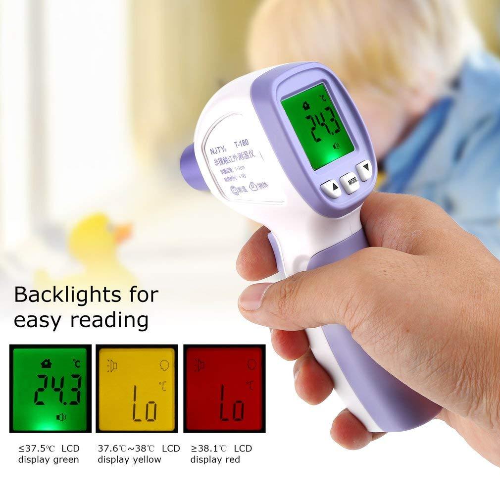 per Neonati Bambini Termometro Frontale,Termometro Infrarossi Febbre con Schermo LCD Termometro Digitale,Letture istantanee Accurate Certificazione CE e FDA Adulti Latte e Oggetti