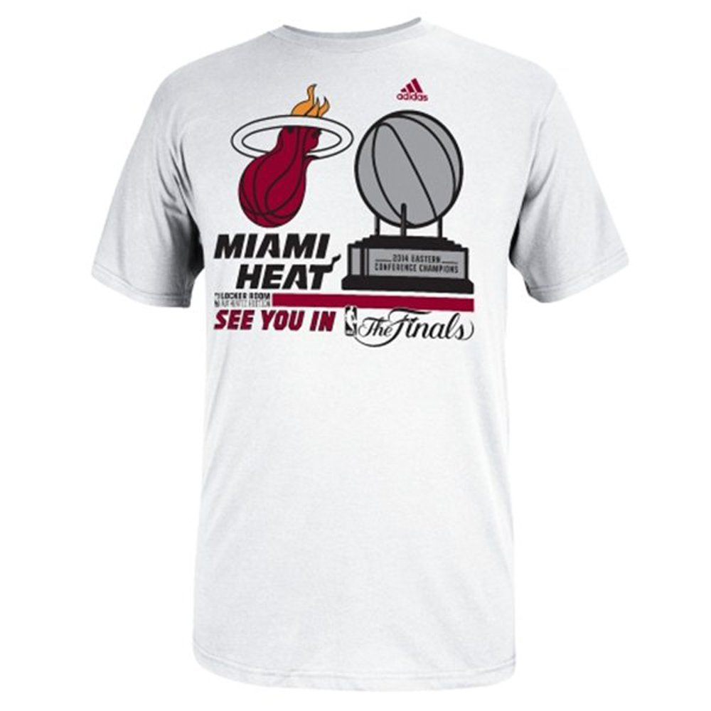 Adidas NBA Miami Tシャツ Miami HeatメンズLocker Room XL Conference Champion Tシャツ XL B00KHJVIGO, Fairy Cotton:d0e56e84 --- yogabeach.store