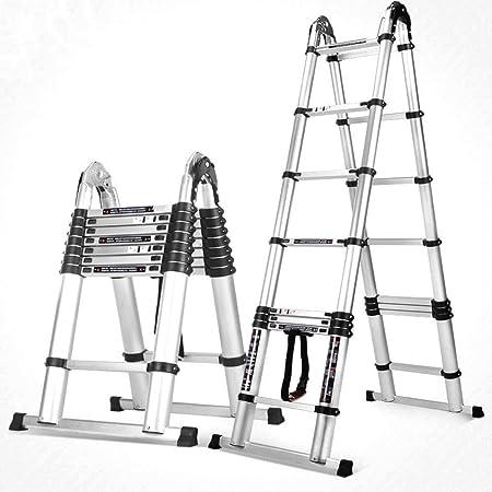 Escalera telescópica Taburete de escalera Escalera plegable para el hogar Escalera Ascensor Escalera de ascenso del ático Escalera de escalera multifunción - Capacidad de carga 150 kg, Enhanced Edition, 1.9+1.9m: Amazon.es: Hogar