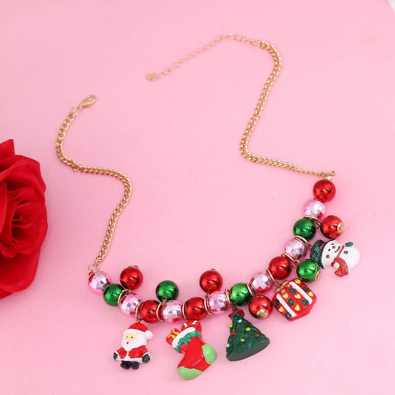 Bubble Gum Necklace Chunky Necklace Statement Necklace Red Necklace Christmas Necklace Wedding Holiday Necklace Bridesmaids