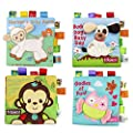 Fabric Baby Cloth Books KINBON Activity Crinkle Non-Toxic Soft Baby's First Book Early Educational Toys for Toddler Infants and Kids Gifts ( Pack of 4 ) by KINBON that we recomend personally.