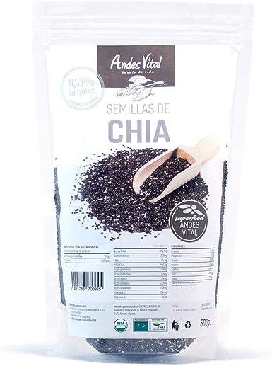 Semillas chia organica ecologica pack 2 x 500g , 1 kg en total ...