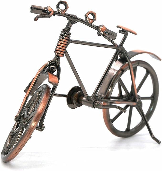 Escultura de hierro hecha a mano, diseño de motocicleta, 19*6.5*12 ...