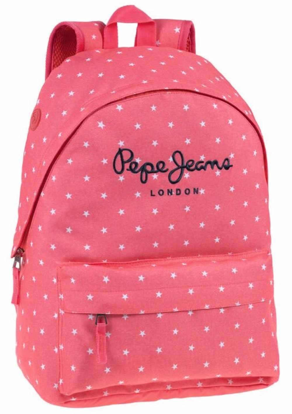 Pepe Jeans Stars Mochila Escolar, 22.85 litros, Color Naranja: Amazon.es: Equipaje