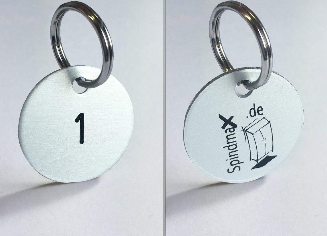 Portachiavi del marchio Sistemi in alluminio anodizzato Ø 30mm, 1–25numerati spind Max 1-25numerati spind Max Stegmann & Co.KG