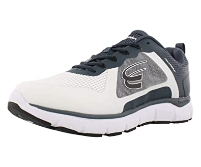 8402f9d627eb Spira CloudWalker Mens Athletic Walk White Navy   Black - 7 Medium
