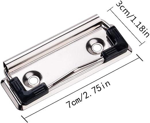 Klemmbrett-Clips Fiyuer 20 Pcs faltschachtelclips drahtb/ügelmechanik klemmmechanik klemme f/ür klemmbrett vintage Silber 10 * 30mm,70 * 30mm