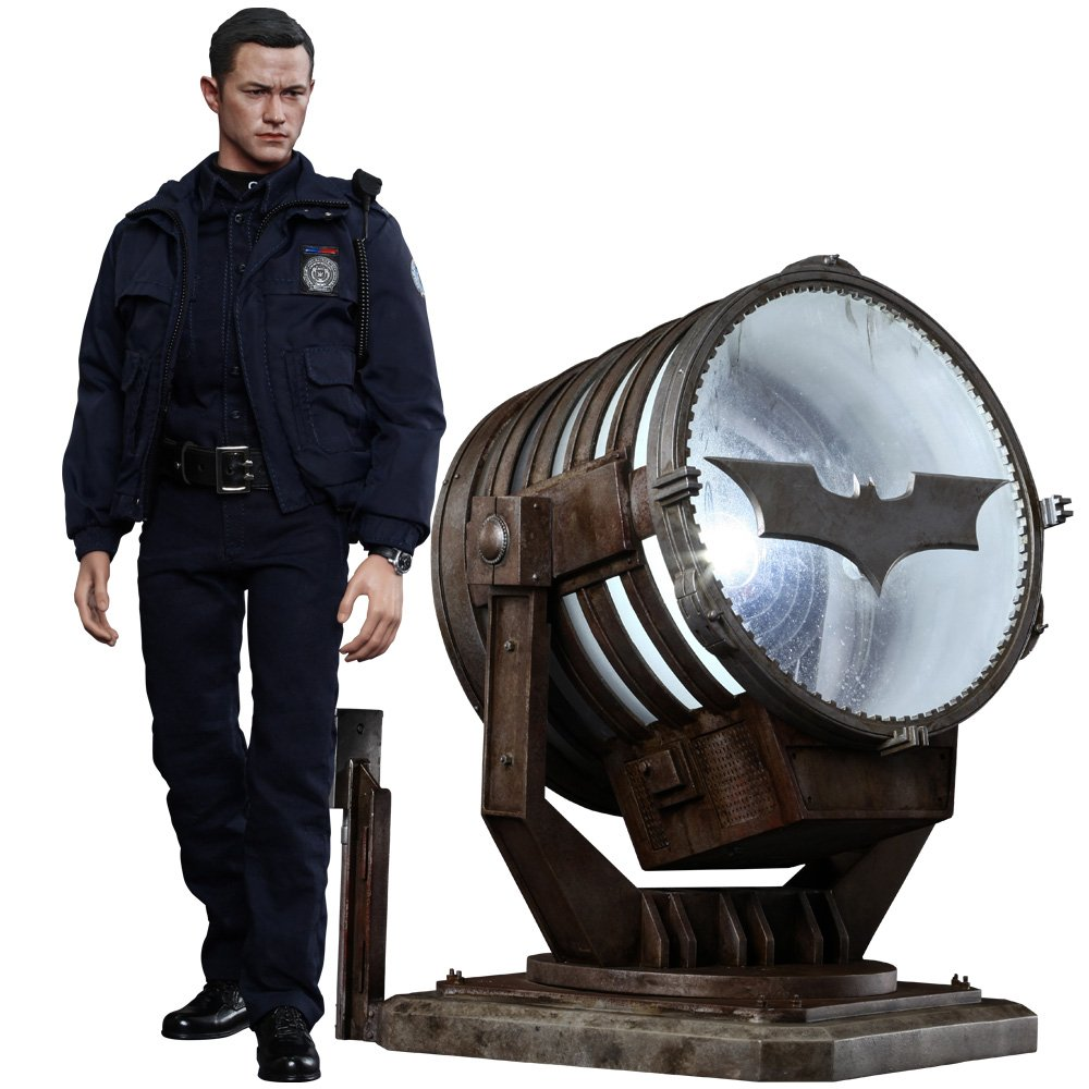 Hot Toys The Dark Knight Rises Movie Masterpiece Actionfigur 1/6 1/6 1/6 John Blake with Bat-Signal 30 cm c4beb5