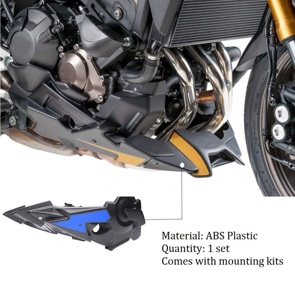 Shumo Kit de Cuerpo de Carenado Lateral de Belly Pan del Aler/óN del Motor de la Motocicleta para MT-07 FZ-07 2014 2015 2016 2017 2018 2019