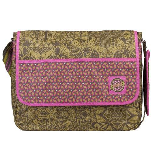 Khaki Terroso Oleato Grafico Messenger Bag