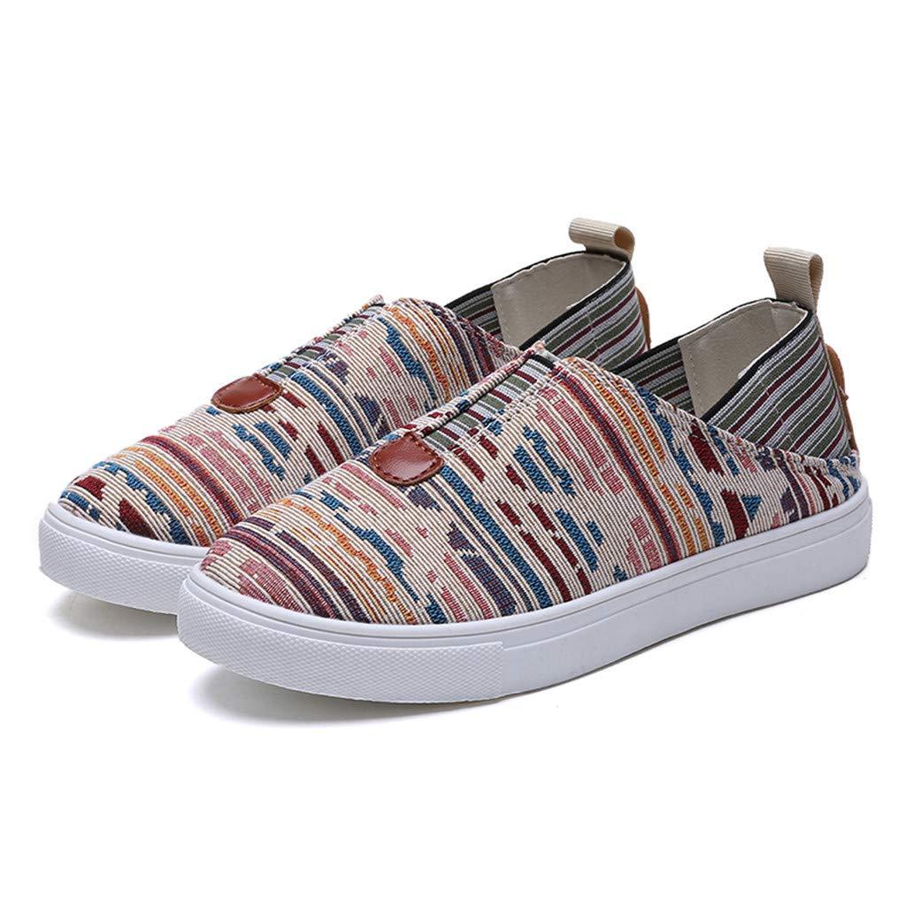 GNYD-Zapatos Mujer Verano Plataforma Casual De Lona Romanos del Pa/ñO De Los Mocasines De La Moda Se/ñOras