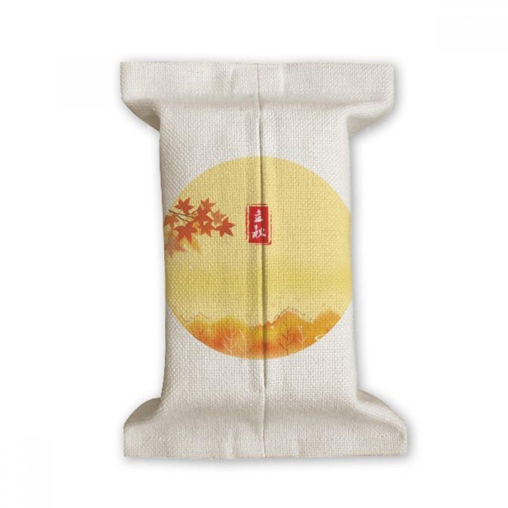 DIYthinker Autumn Begins Twenty Four Solar Term Tissue Paper Cover Cotton Linen Holder Storage Container Gift