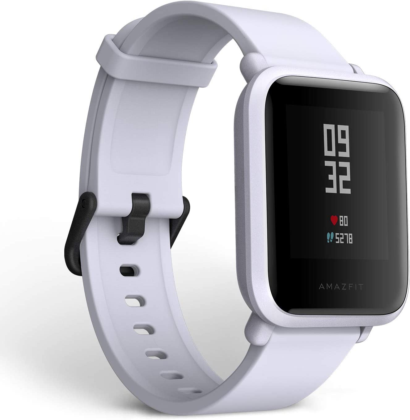 Amazfit BIP smartwatch by Huami with all-day heart rate and activity tracking, sleep monitoring, GPS, 30-day battery life, Bluetooth (White Cloud)