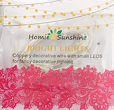OakHaomie LED Starry String Lights 30 Micro Starry Leds on Copper Wire,2pcs CR2032 Batteries Required and Included,