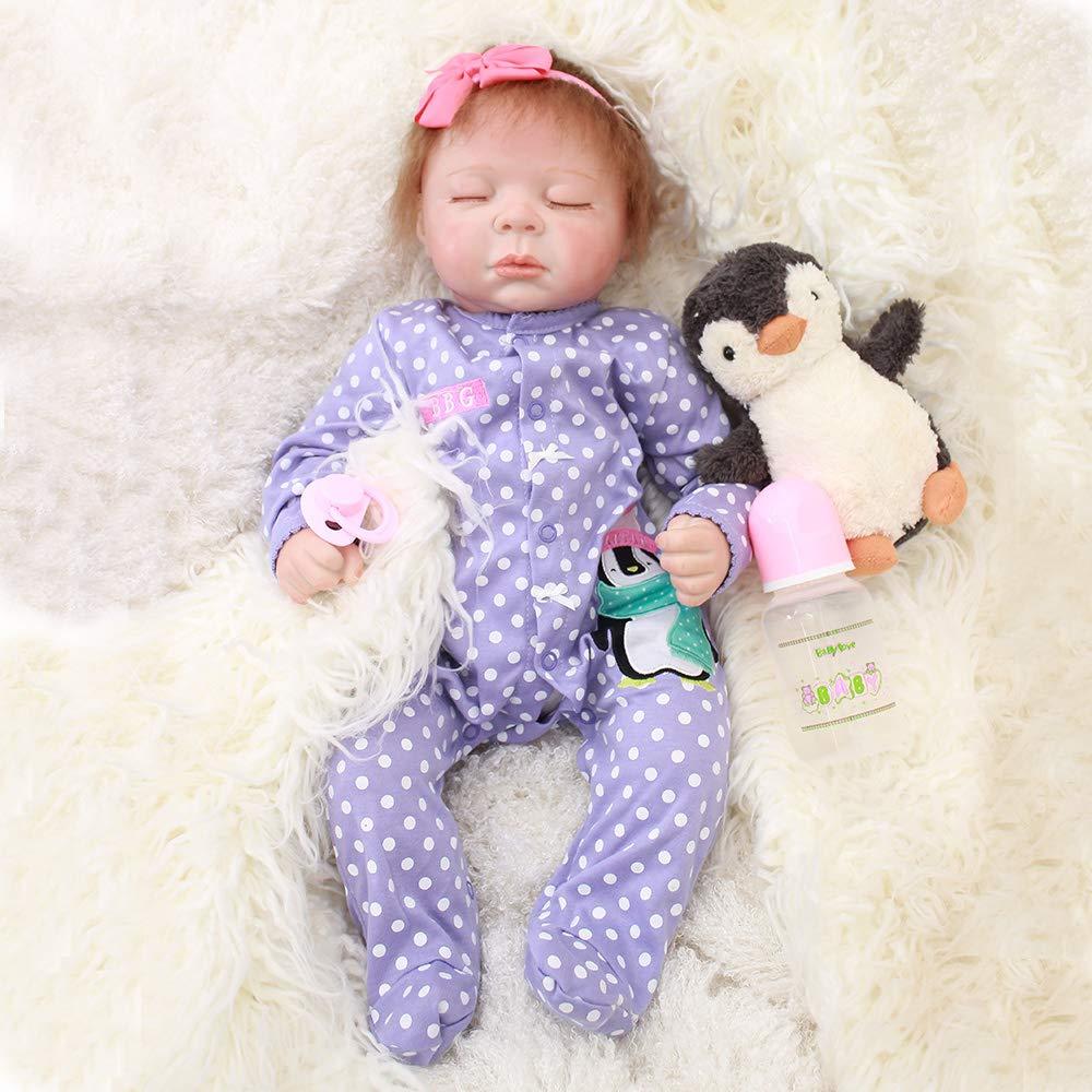 1d1b136f3d96 Amazon.com  HAPPY Otarddolls 20 inch 50 cmRealistic Reborn Baby Boy Newborn  Babies Silicone Cute Sleeping Toys Kids Birthday Gifts Children s  Toys    Games