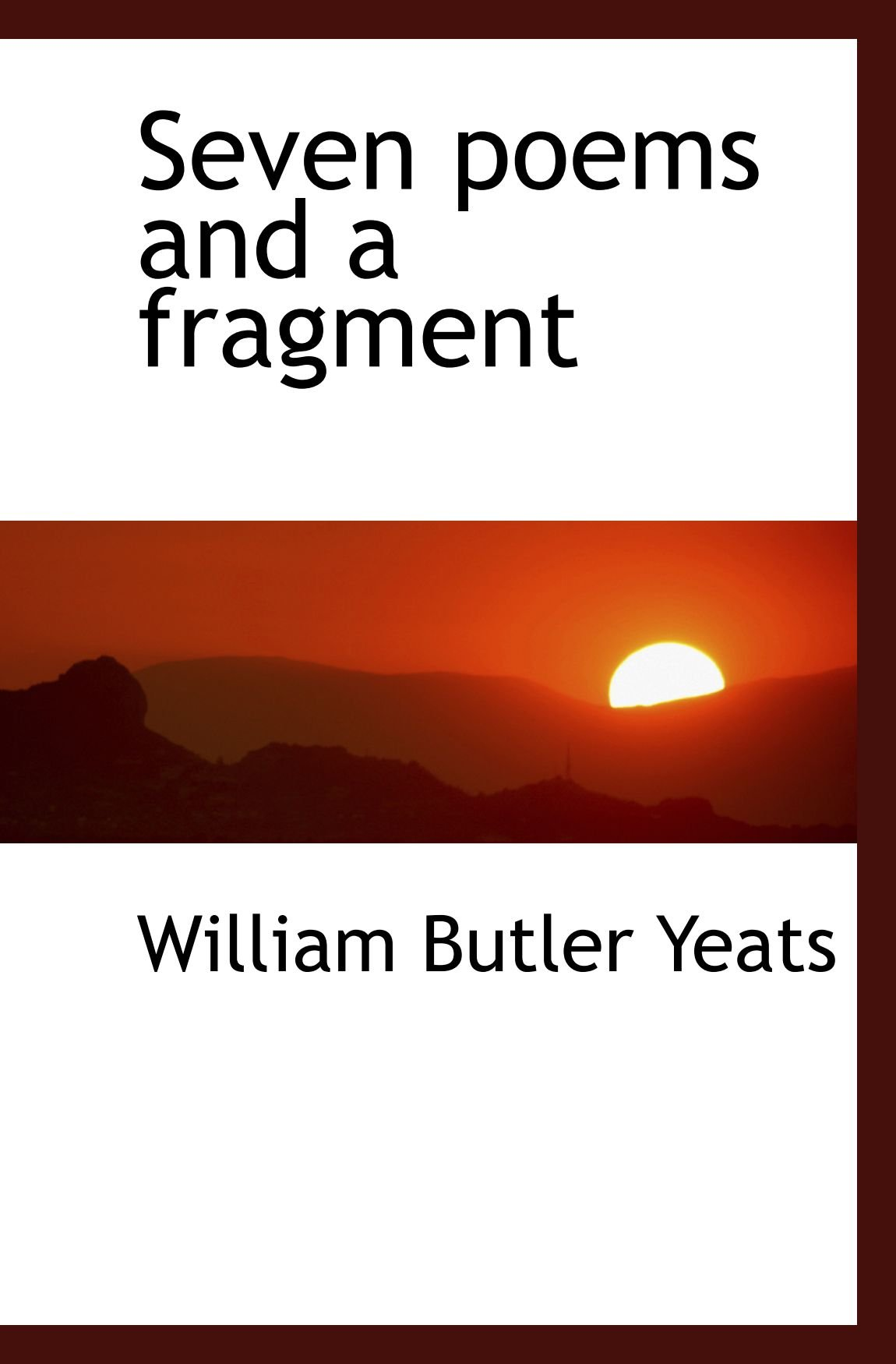 Download Seven poems and a fragment ebook