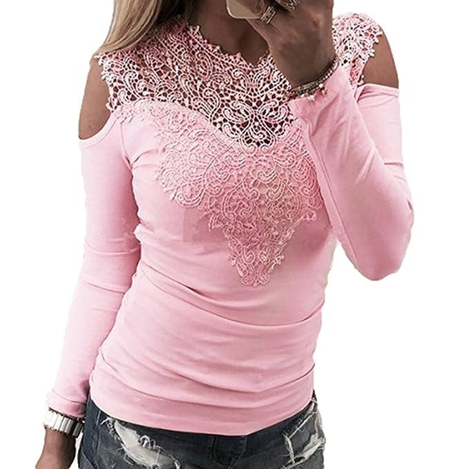 Tallas Grandes Camisas Mujer, Blusas para Mujer Moda Tops Camisetas de Manga Larga Blusas de