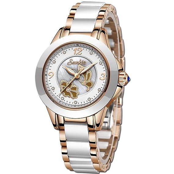 SUNKTA Mujer Reloj Vestir Oro Rosa Relojes Mujer Moda ...