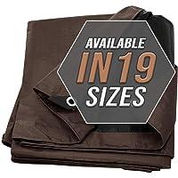 Cubierta De Lona marrón/Negra, Paquete De 2, Impermeable Súper Ultra Resistente Lona Alquitranada, ¡Para Cubrir Barcos…