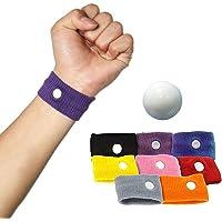 Imixcity 4 Pairs(8Pcs) Acupressure Anti Nausea Morning Sickness Relief Motion Travel Wristbands Bracelets Sick Wrist Band Car Sea Plane (4 Pair)